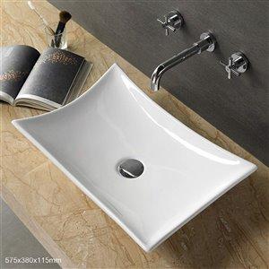 American Imaginations Vessel Sink - 22.6-in - White