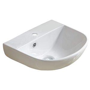 American Imaginations Bathroom Sink - 17.3-in - White