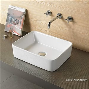 American Imaginations Vessel Sink - 18.9-in - White