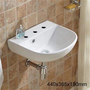 American Imaginations Rectangular Sink - 17.3-in - White