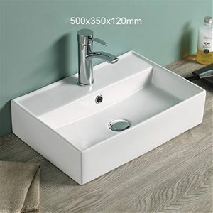 American Imaginations Vessel Sink - 19.7-in - Matt White