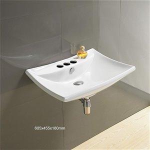 American Imaginations Bathroom Sink - 23.8-in - White