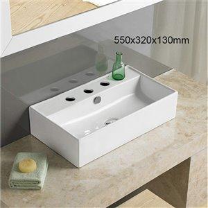 American Imaginations Vessal Bathroom Sink - 21.7-in - White