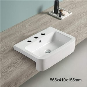 American Imaginations Vessel Sink - 22.2-in - White