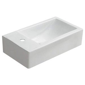 American Imaginations Wall-Mount Sink - 17.7-in - White