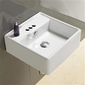 American Imaginations Square Sink - 18.1-in - White