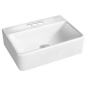 American Imaginations Vessel Rectangular Sink - 15.7-in - White