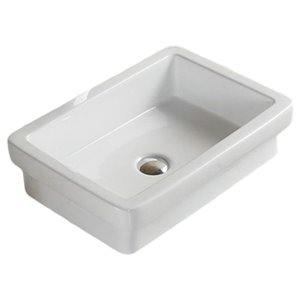 American Imaginations Drop-In Sink - 20.5-in - White