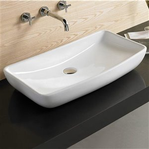 American Imaginations Vessel Sink - 27.8-in - White