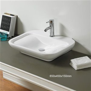 American Imaginations Vessel Sink - 25.6-in - White
