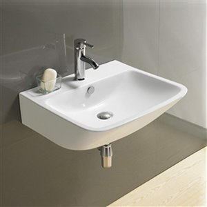 American Imaginations Wall-Mount Sink - 21.5-in - White
