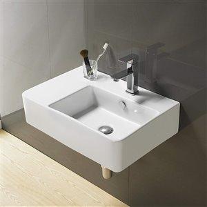 American Imaginations Rectangular Bathroom Sink - 23.8-in - White