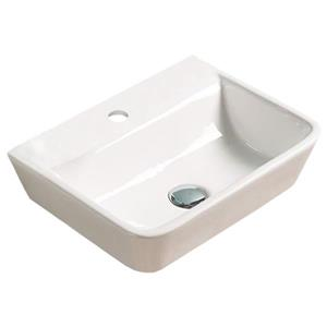 American Imaginations Wall-Mount Sink - 17.5-in - White