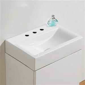 American Imaginations Vessel Rectangular Sink - 18.1-in - White