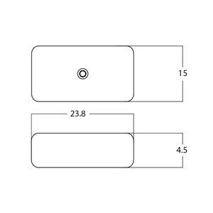 American Imaginations Vessel Sink - 23.8-in - White