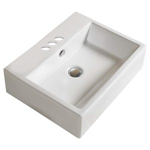 American Imaginations Bathroom Sink - 20.9-in - White
