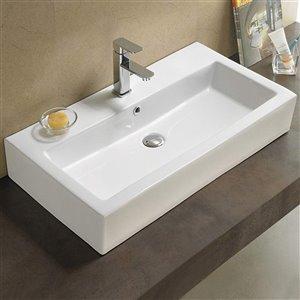 American Imaginations Vessel Sink - 31.5-in - White