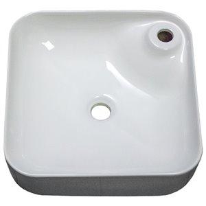 American Imaginations Vessel Sink - 16.9-in - White