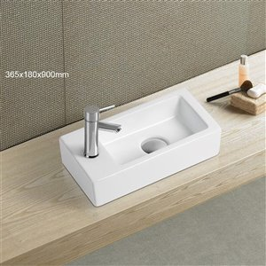 American Imaginations Vessel Sink - 14.5-in - White