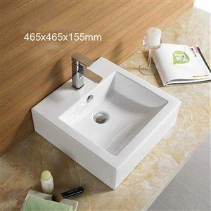 American Imaginations Vessel Sink - 18.3-in - White