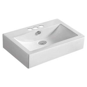 American Imaginations Vessel Sink - 23.6-in - White