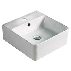 American Imaginations Bathroom Sink - 15.7-in - White