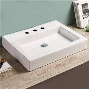 American Imaginations Bathroom Vessel Sink - 24-in - White