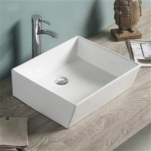 American Imaginations Vessel Sink - 18.3-in - White