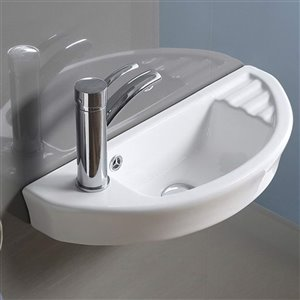 American Imaginations Wall-Mount Sink - 21.9-in - White