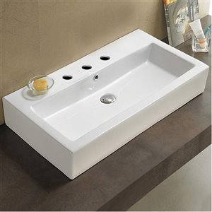 American Imaginations Vessel Bathroom Sink - 31.5-in - White