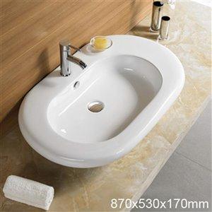 American Imaginations Vessel Sink - 34.3-in - White