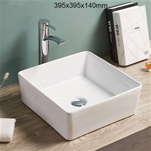 American Imaginations Vessel Sink - 15.6-in - White
