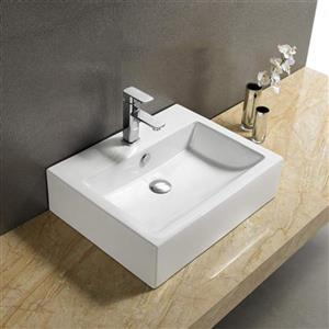 American Imaginations Vessel Sink - 31.5-in - White