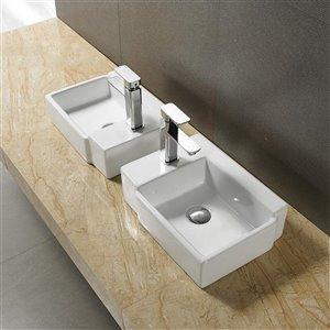 American Imaginations Vessel Sink - 16.5-in - White
