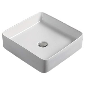 American Imaginations Rectangular Vessel Sink - 16.1-in - White