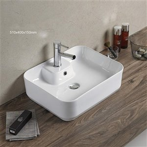 American Imaginations Vessel Sink - 20.1-in - White