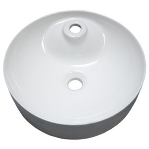 American Imaginations Vessel Sink - 17.1-in - White
