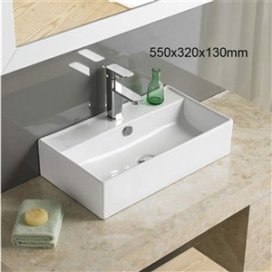 American Imaginations Vessal Sink - 21.7-in - White