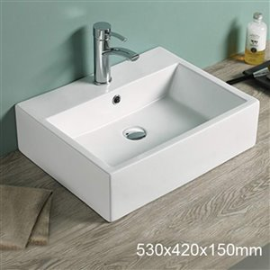 American Imaginations Vessel Sink - 20.9-in - Matt White