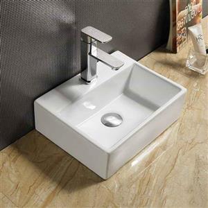 American Imaginations Vessel Sink - 15.2-in - White