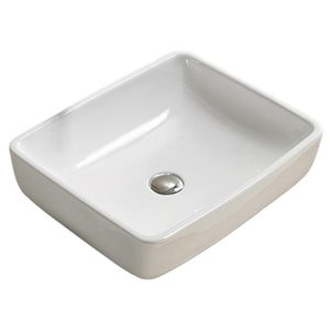 American Imaginations Vessel Sink - 18.7-in - White