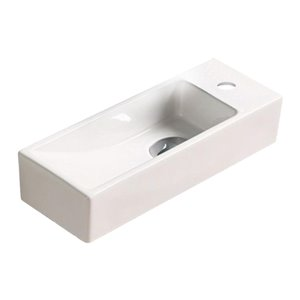 American Imaginations Wall-Mount - 15-in - White