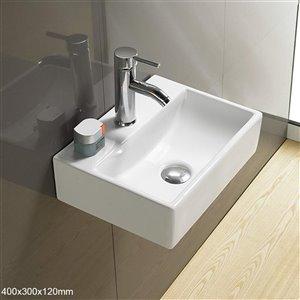 American Imaginations Vessel Wall-Mount Sink - 15.7-in - White