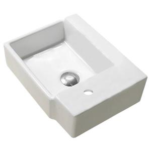 American Imaginations Wall-Mount Sink - 16.5-in - White
