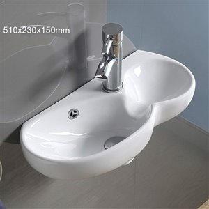 American Imaginations Wall-Mount Sink - 20.1-in - White