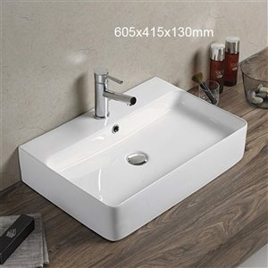American Imaginations Vessel Sink - 23.8-in - White