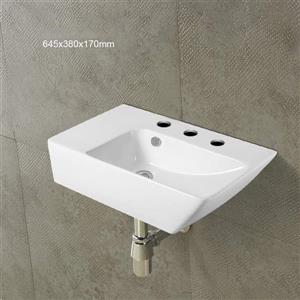 American Imaginations Wall-Mount Sink - 25.4-in - White