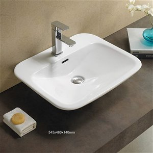 American Imaginations Vessel Sink - 21.5-in - White