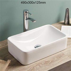 American Imaginations Vessel Sink - 19.3-in - White