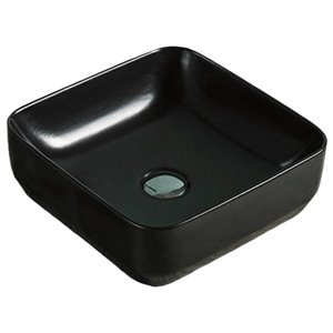 American Imaginations Vessel Sink - 14.2-in - Matt Black